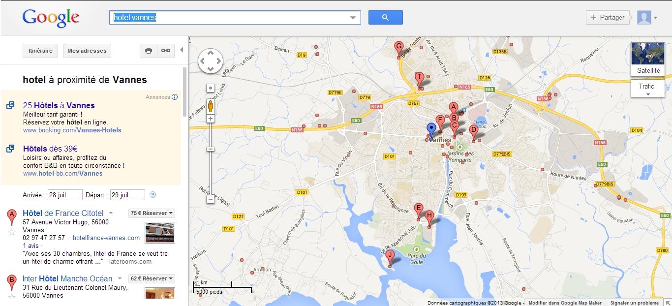 Google Address permet de localiser votre entreprise