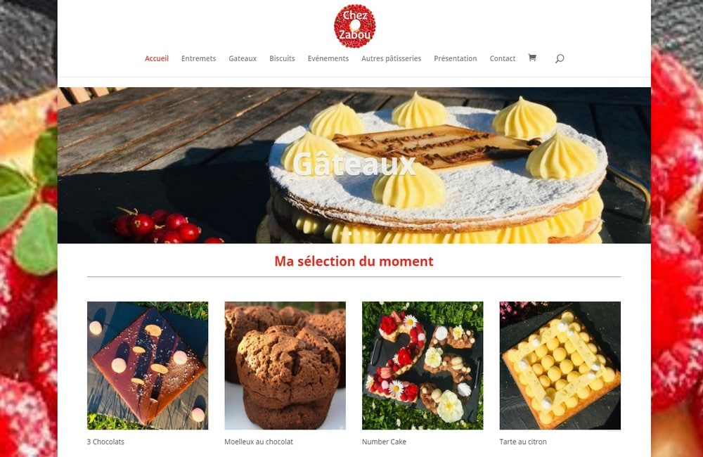 creation site ecommerce chez zabou patisserie