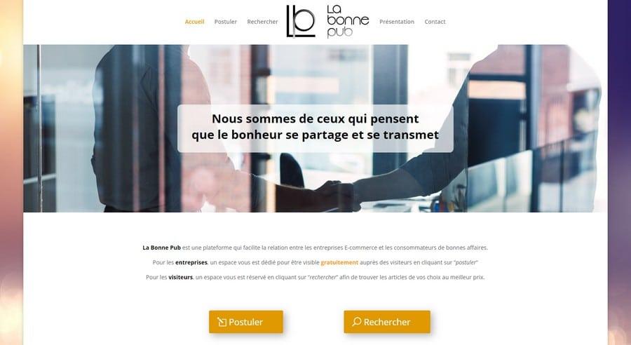 création site Internet La Bonne Pub