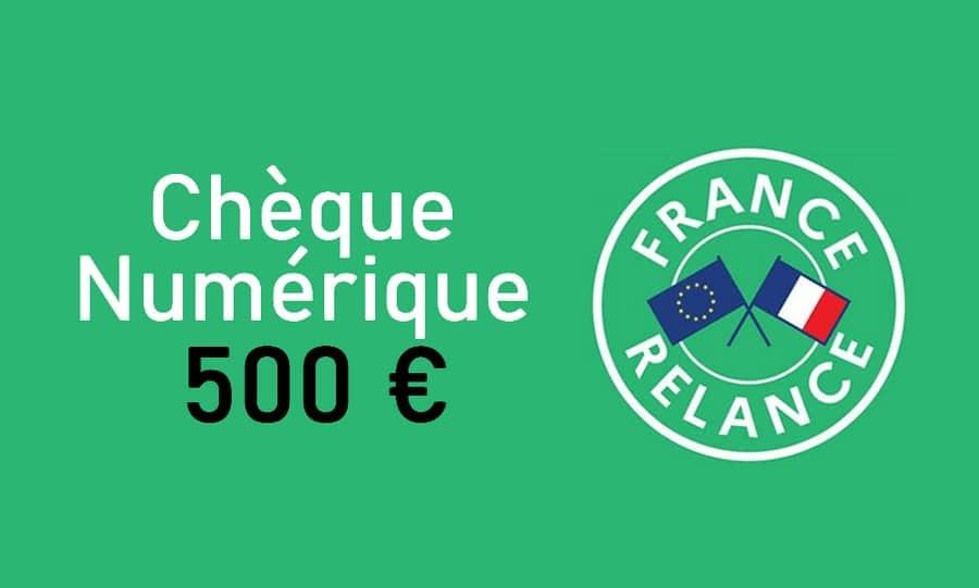 cheque numerique 500 euros